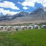 Camps at pangong lake side...