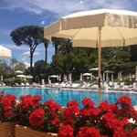 Pool terrace at Rome Cavalieri