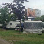 Campsites very close together and right next to Lundys Lane and a huge billboard.