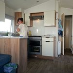 Kitchen in caravan number 4