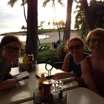 Eating at longboards at sunset