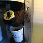 Close up of the Keurig blow out
