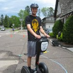 One of our Grandkids - first time using a Segway