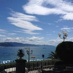 la vista dalla terrazza del Grand Hotel Miramare di Santa Margherita Ligure