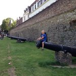 Canons outside the old city wall in Maastricht