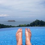 Poolside view, apologies for the feet