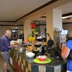 Breakfast buffet in Butte Plaza Inn