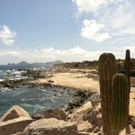View of the beach and Cabo