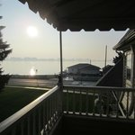 Our private balcony overlooking St Clair River
