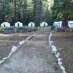 Tent cabins at Merced High Sierra Camps