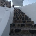 Not many steps for Oia!