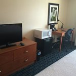tv area & desk