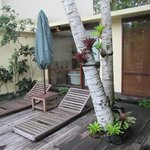 Picture of deck area outside of room