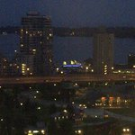 Harborfront at night from room