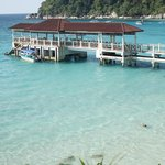 View towards Perhentian Island Resort and their Jetty