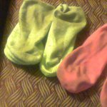My socks from walking on the carpet. You should have seen my feet! Way gross!