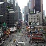 view of Times Squ from Roof Top bar at Hotel