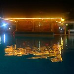 Pool bar at night when closed