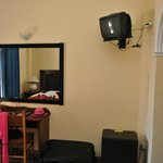 Old style room, tiny TV