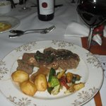 Beef and springbok steak