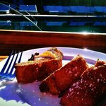 Poolside breakfast - Sweet Bread French Toast...Mmm