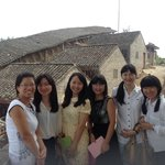 Miki Tours team , from Left namely Qin Qin , Ellin , Yoyo, Lisa , Lily , Miki