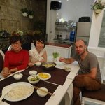 Me having dinner with Mai & Amy, lovely hosts and hotel managers.