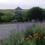 View of Nauset Beach gazebo from Nauset Knoll