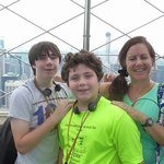 Lois and boys at Empire State Building