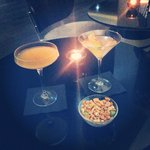 Gorgeous cocktails in hotel bar ��