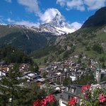 Matterhorn view from Hotel Bella Vista, Zermatt