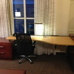 Business area in the room, well equipped with many plug ins