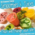 Lots of smoothies and juices