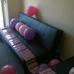 One of sofas (balloons not included)