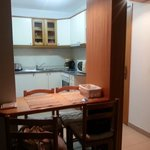 kitchen with a dining table for 1 bedroom apartment