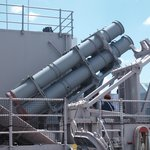 Harpoon missile launchers