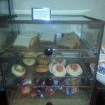 Selection of fresh breads, bagels, muffins and dessert cakes