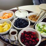 Amazing fruit platter for breakfast