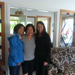 Kim, Ann and Colleen inside her B and B