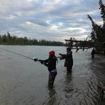 Salmon fishing on the Kenai