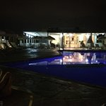 pool area - night