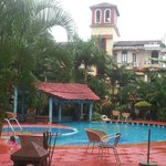 The Swimming pool around which the Resort is sited
