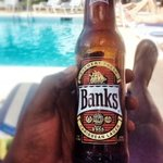Drinking Banks by the pool