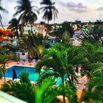 View from the Balcony- 6am in Barbados