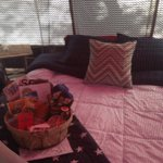 queen-size mattress with comfy sheet, pillows and covers; sleeping bags also provided; welcome b