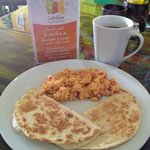 Breakfast quesadillas and Salento coffee