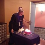 Birthday Cake Delivered by Room Service Captain Andrew Diamond Swan Hotel