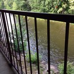 Balcony over river
