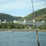 View of resort from fishing boat