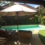 Private pool just for two. 